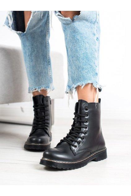 Čierne dámske topánky Small swan kod LT113B
