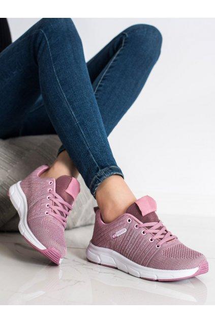 Ružové dámske tenisky Trendi kod DY23P