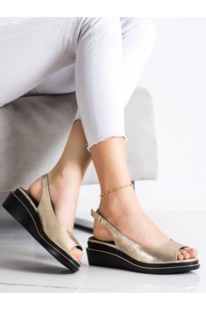Žlté dámske sandále Goodin kod GD-XR-301GO