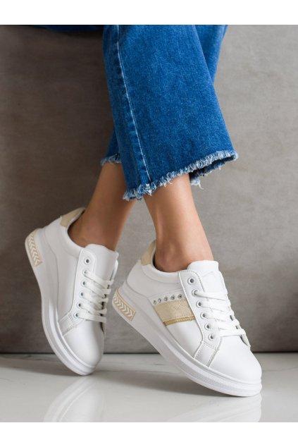 Biele dámske tenisky Trendi kod LE6019BE