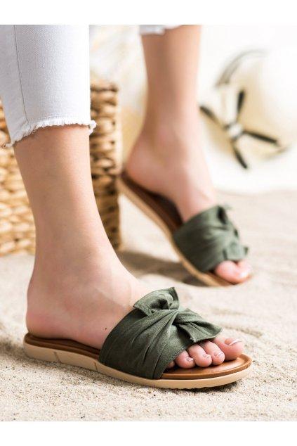 Zelené dámske šľapky Vinceza kod YQE21-17122GR
