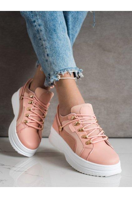 Ružové dámske tenisky Trendi kod LA128P