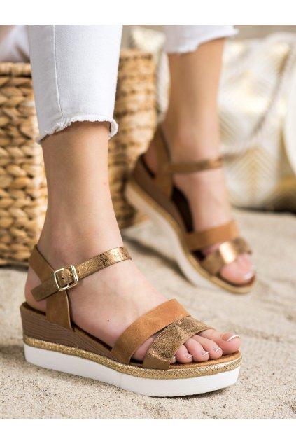 Hnedé dámske sandále Trendi kod W980C
