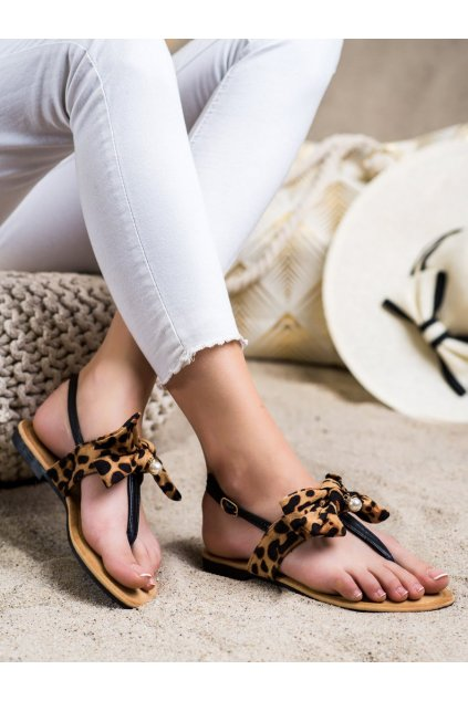 Zvierací motív dámske sandále Seastar kod CK196LEO