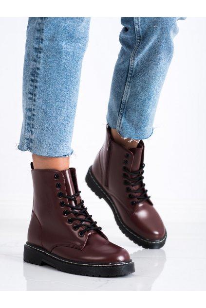 Červené dámske topánky Trendi kod LT215WI