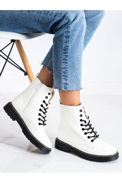 Biele dámske topánky Trendi kod LT215W