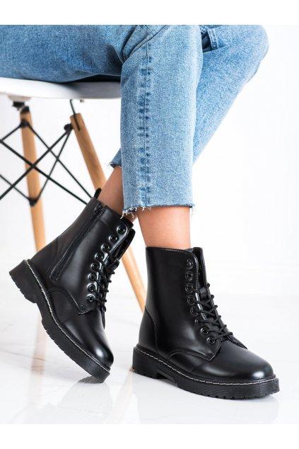 Čierne dámske topánky Trendi kod LT215B