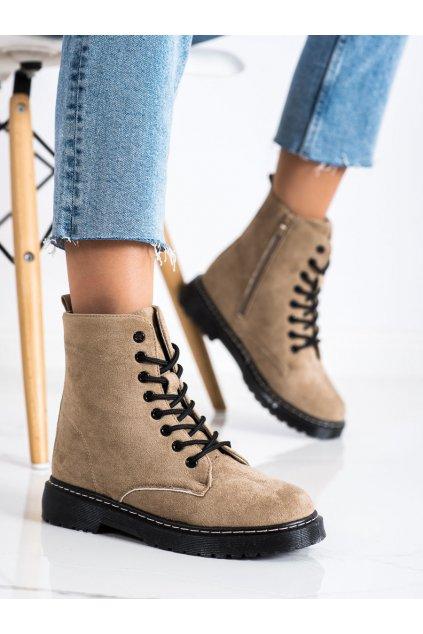 Hnedé dámske topánky Trendi kod LT217KH