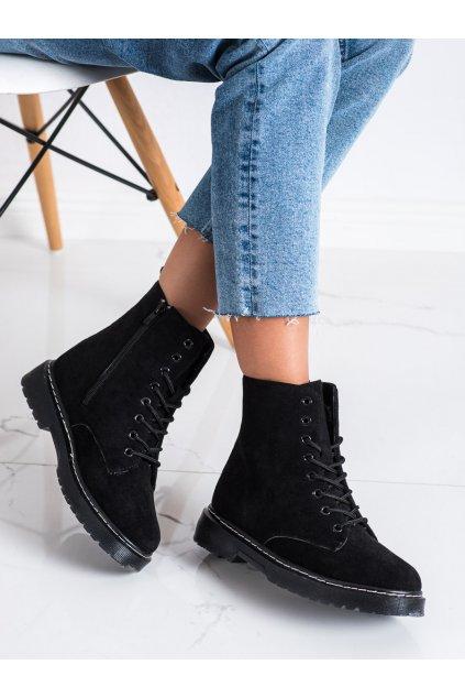Čierne dámske topánky Trendi kod LT217B