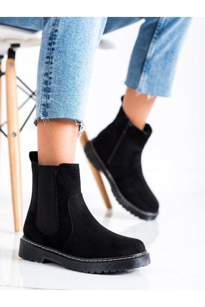 Čierne dámske topánky Trendi kod LT220B