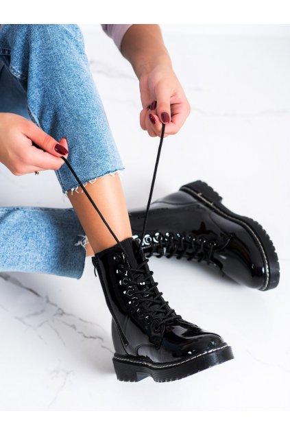 Čierne dámske topánky Trendi kod LT216B
