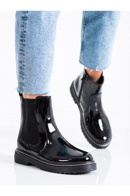 Čierne dámske topánky Trendi kod LT219B