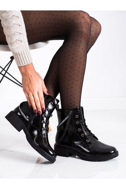Čierne dámske topánky Vinceza kod XY22-10642B/B