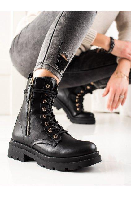 Čierne dámske topánky Sixth sense kod