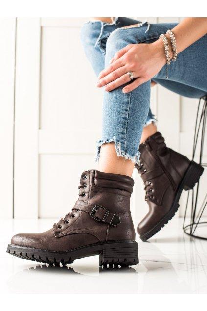 Hnedé dámske topánky Anesia paris kod