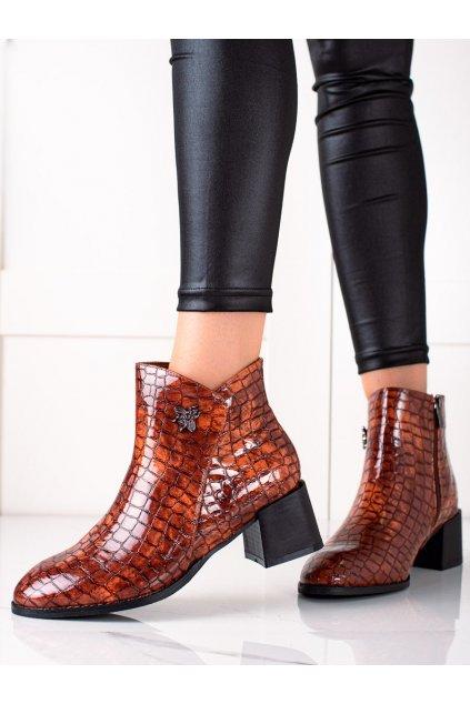 Hnedé dámske topánky Filippo kod