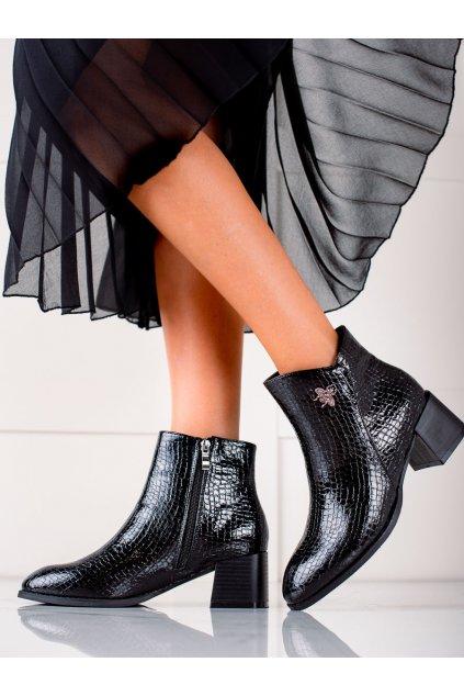 Čierne dámske topánky Filippo kod