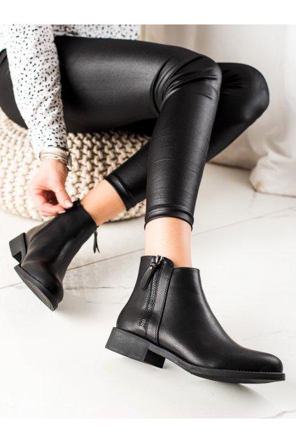 Čierne dámske topánky Lovery kod
