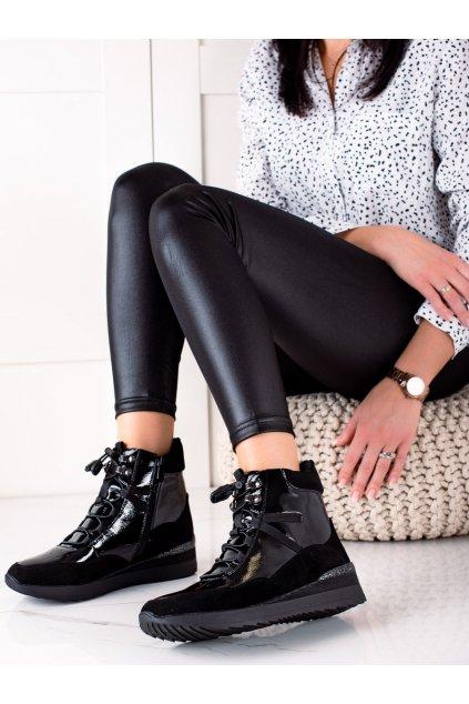 Čierne dámske topánky Groto gogo kod