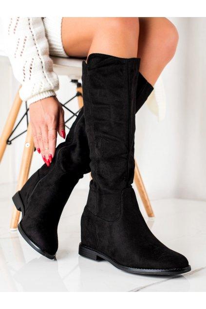 Čierne dámske čižmy Trendi kod BM280B