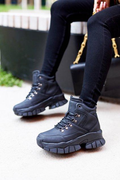 Dámske trekové topánky farba čierna kód obuvi II274329 BLK