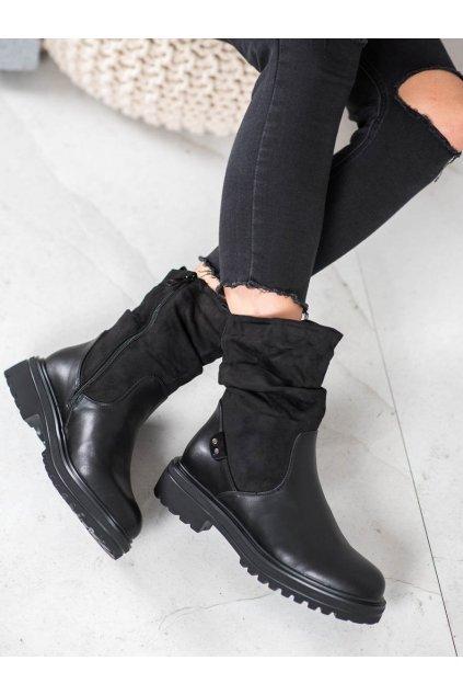 Čierne dámske topánky Trendi kod 7-X8225B