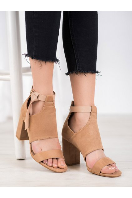 Hnedé dámske sandále Vinceza kod YQE20-17054BE