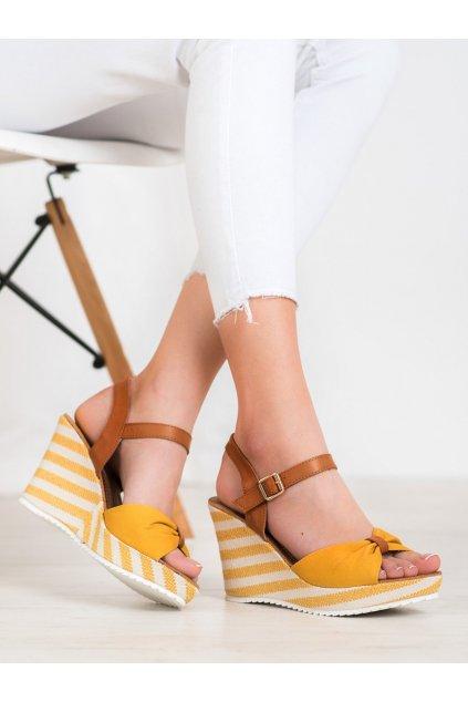 Žlté dámske sandále Goodin kod FL1059Y
