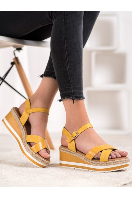 Žlté dámske sandále Weide kod Y606Y