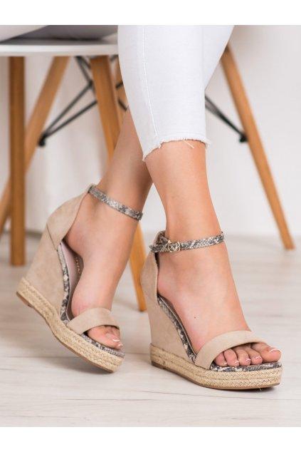 Hnedé dámske sandále Goodin kod GD-NF-07BE