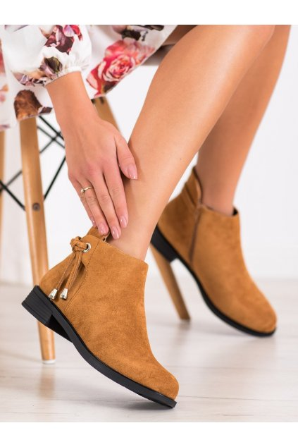 Hnedé dámske topánky Trendi kod MR-10C