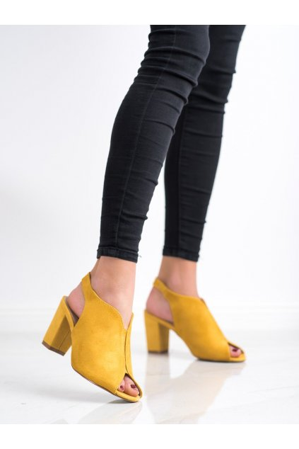 Žlté dámske sandále Goodin kod GD-FL1503Y