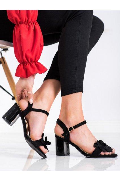 Čierne dámske sandále S. barski kod 04B