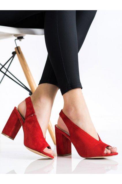 Červené dámske sandále S. barski kod LJ2006R