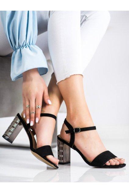 Čierne dámske sandále S. barski kod LJ261B