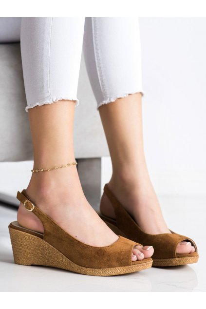Hnedé dámske sandále Goodin kod GD-FL653D.C