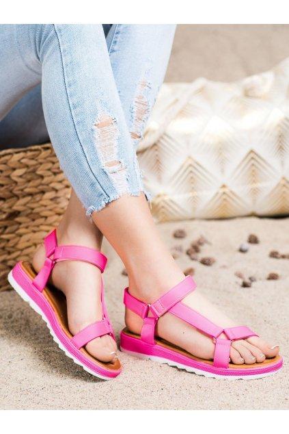 Ružové dámske sandále Trendi kod WS9027RO