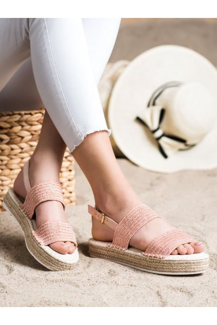 Ružové dámske sandále Trendi kod WSA-65P