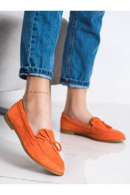 Oranžové dámske mokasíny Coura kod 3394OR