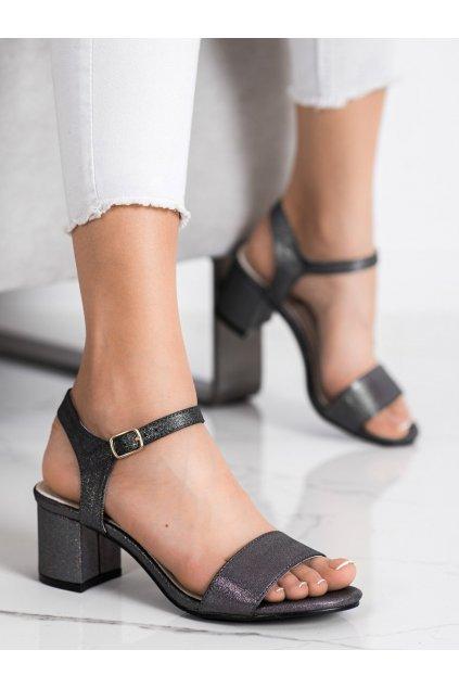 Sivé dámske sandále Goodin kod GD-1028PEW