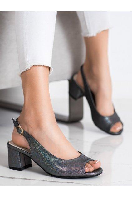 Sivé dámske sandále Goodin kod GD-FL1062PEW