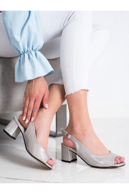 Sivé dámske sandále Goodin kod GD-FL1062TA