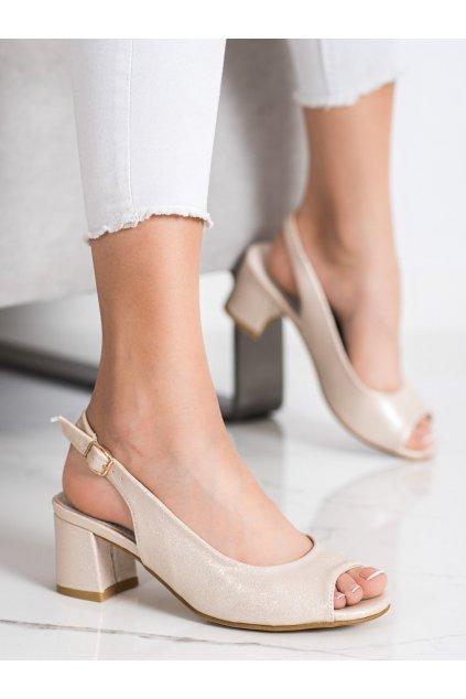Žlté dámske sandále Goodin kod GD-FL1062LT.GO