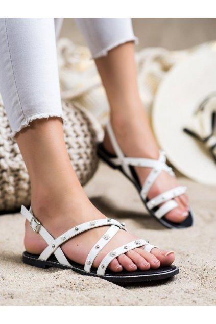 Biele dámske sandále Goodin kod DS-847W