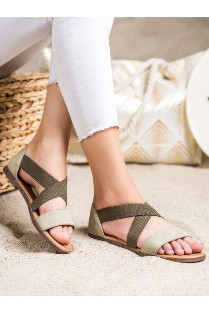 Zelené dámske sandále Sergio leone kod SK061KH