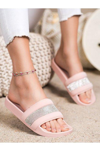 Ružové dámske šľapky Trendi kod GJ07P