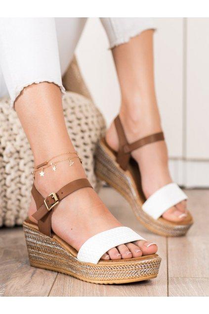 Biele dámske sandále Bona kod 6508W