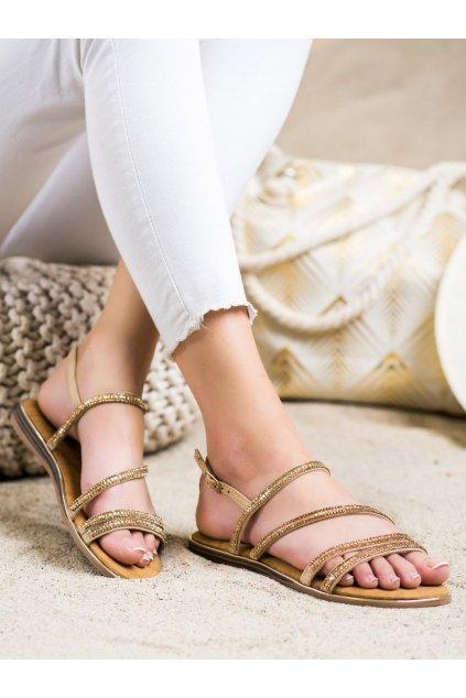 Žlté dámske sandále Fama kod SM0023GO