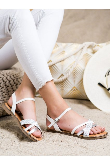 Biele dámske sandále Laura mode kod WL060W