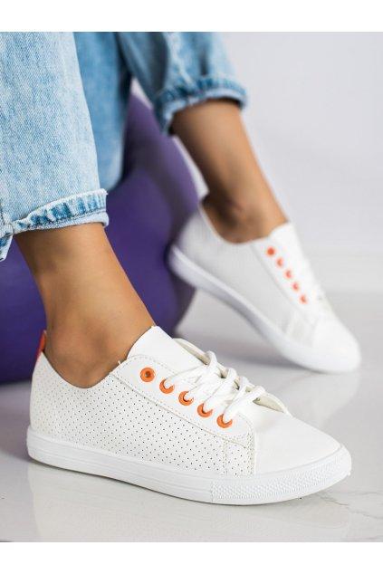 Biele dámske tenisky Trendi kod LA43OR
